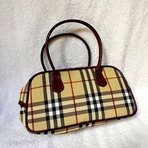 Burberry Style Vinyl Bag